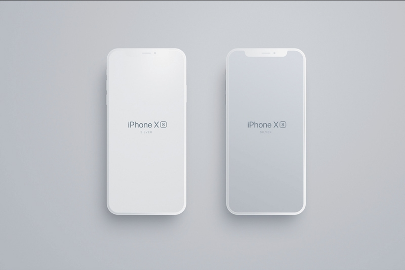 matte iphone 8 x xs mockup for figma freebie supply
