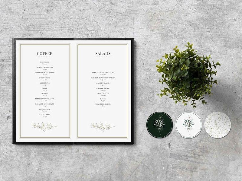 menu mockup branding menu design mockup menu