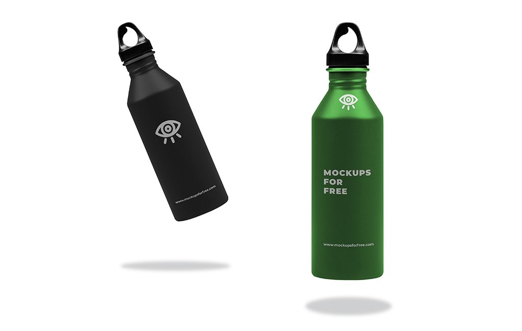 metallic water bottle mockup mockups for free