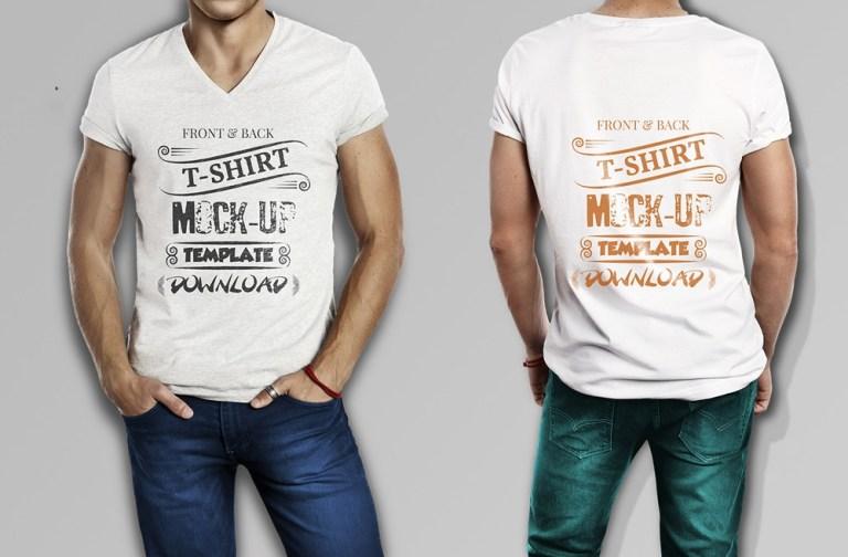 muscular men free t shirt mockup mockuptree