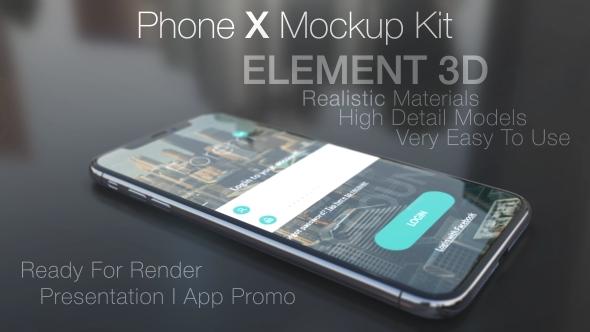 phone x mockup kit maxslash videohive