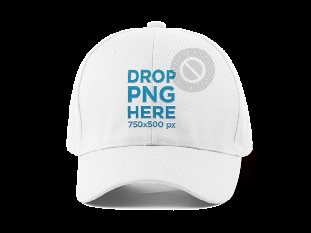 placeit front view of a dad hat mockup