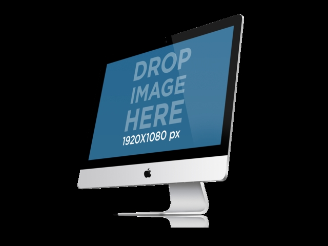 placeit imac png mockup of angled imac over a clear background