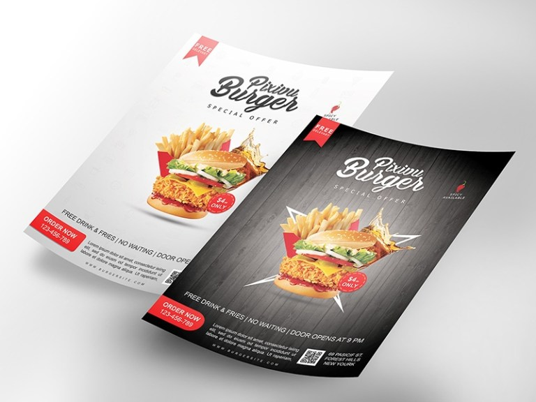 professional flyer mockup free psd template psd repo