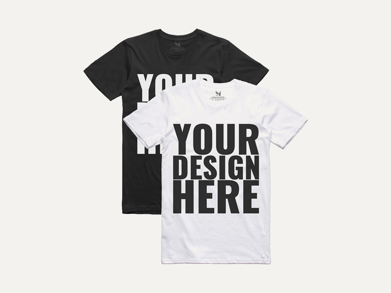 realistic black white t shirt mockups free psd template psd repo