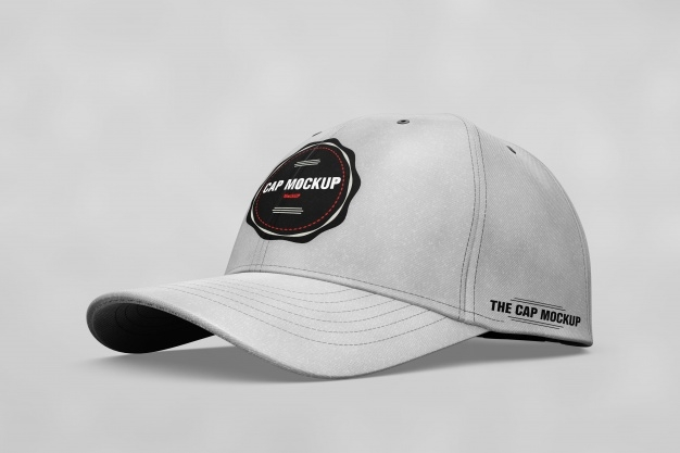 realistic cap mock up psd file free download