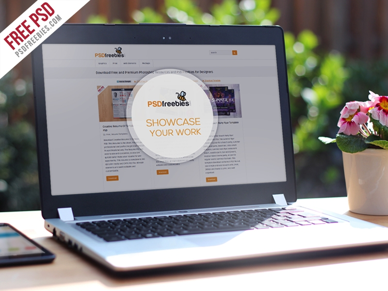 realistic laptop mockup template free psd psdfreebies