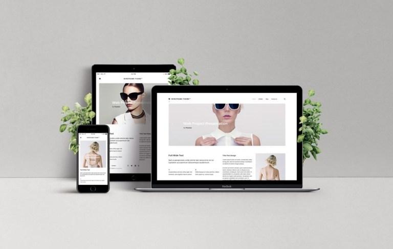 responsive web design showcase mockup mockupworld