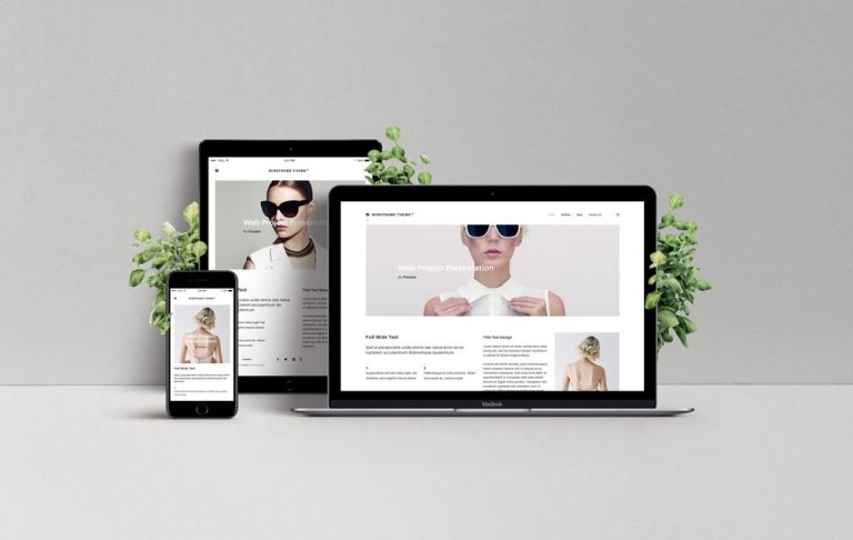 responsive web design showcase mockup mockupworld