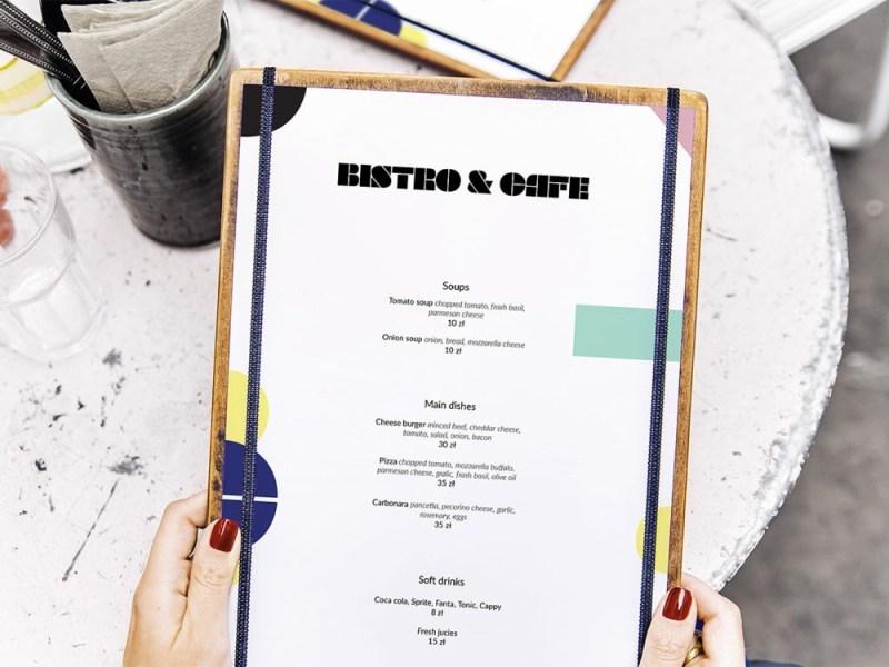 restaurant menu mockup free free mockup