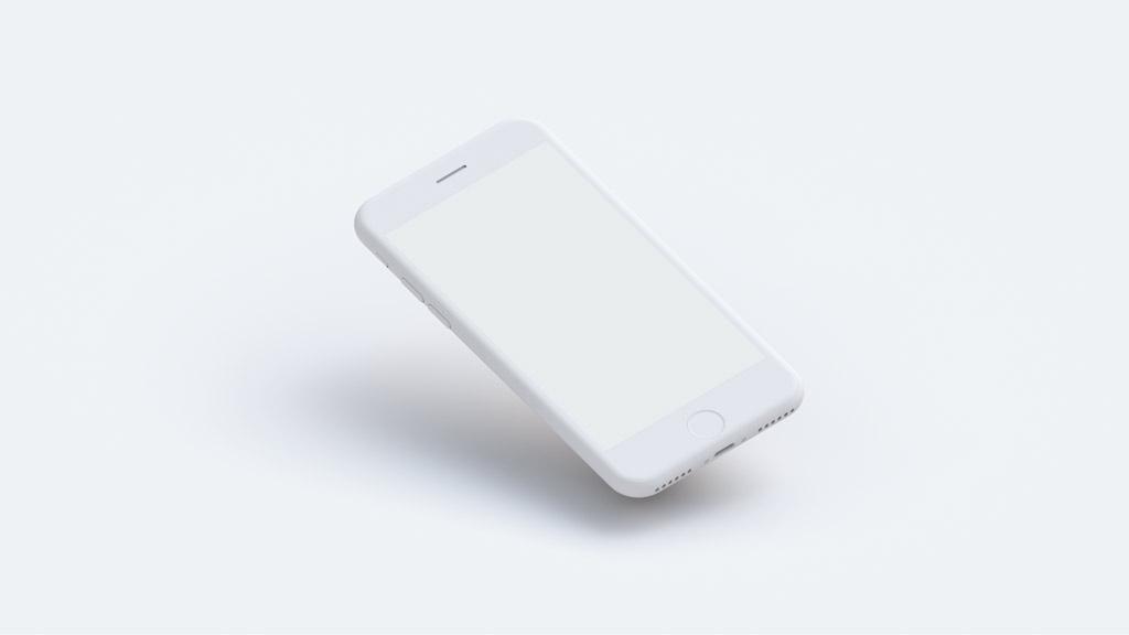 set of white clay iphone mockups mockupworld
