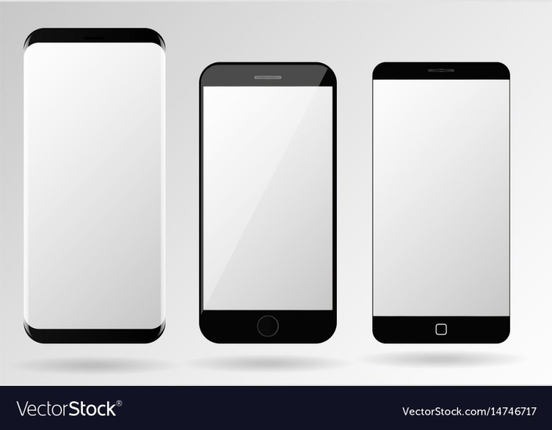 smartphone mockup blank mobile phone template vector image