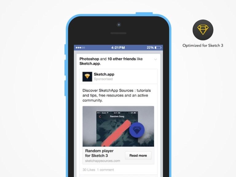 sponsorised facebook advertising sketch freebie download free