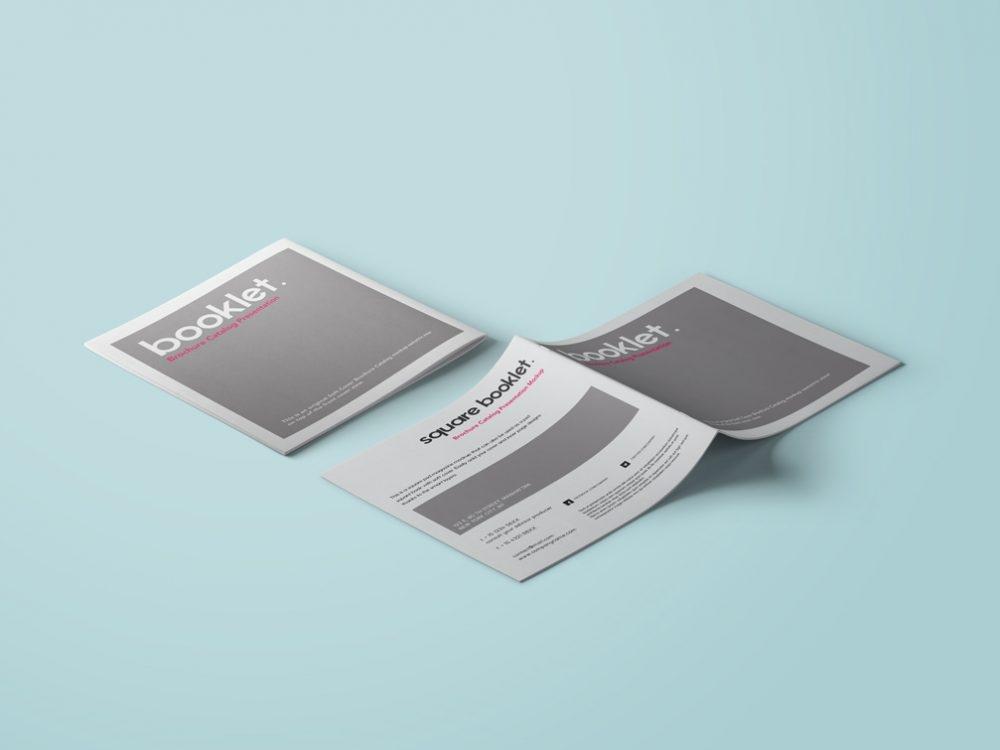 square booklet mockup mockupworld