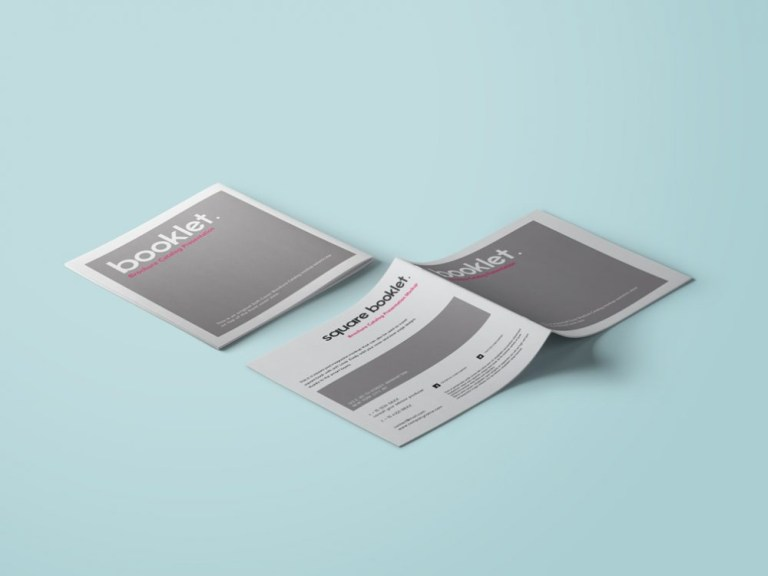 square booklet mockup mockupworld