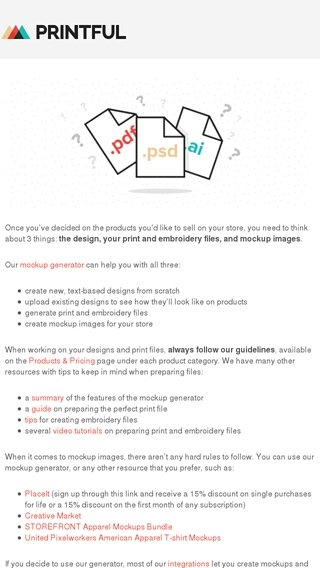 the printful guide how to prepare print files and mockup images