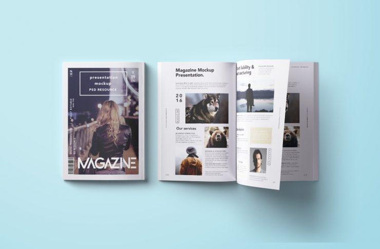top down magazine mockup psd mockup templates