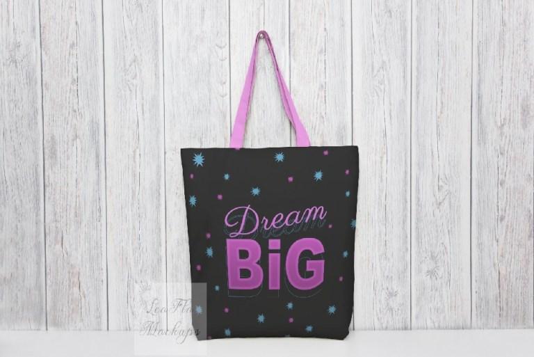 tote bag mockup change color black white and color strap