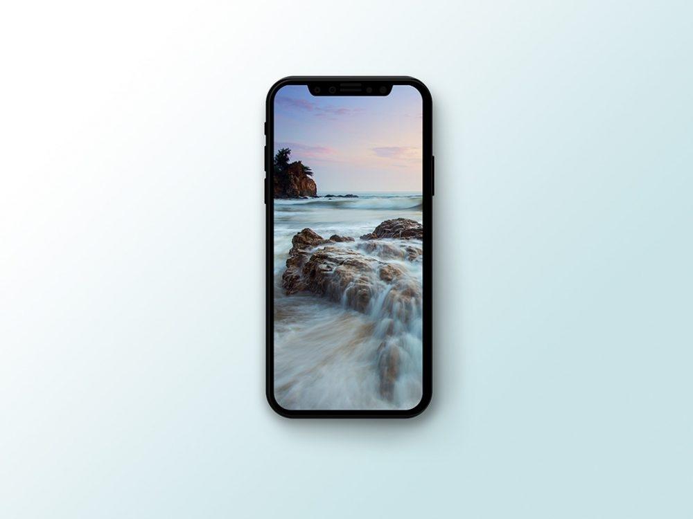 vectorized iphone x with shadow mockup mockupworld