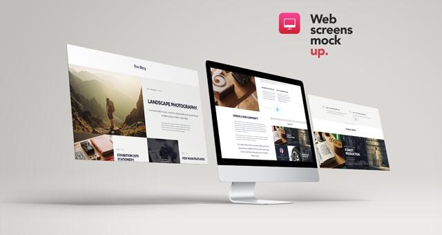web screens mock up vol2 psd mock up templates pixeden