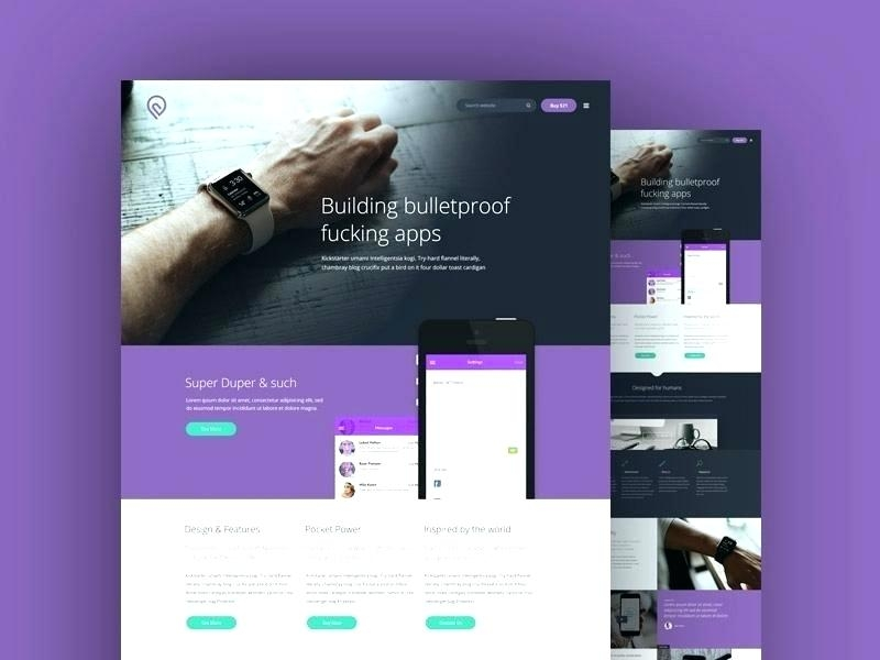 website mockup template