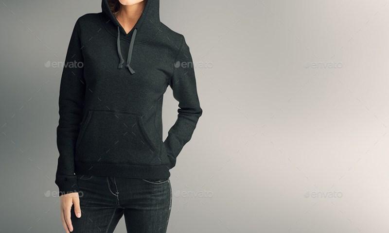 women hoodie mock up