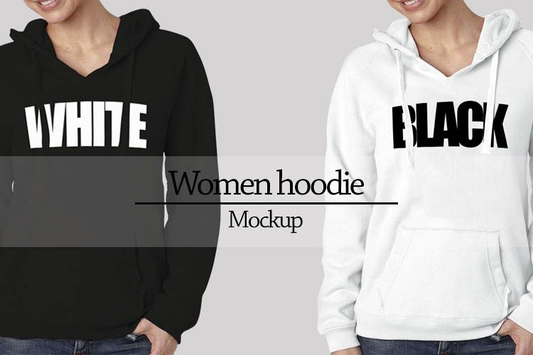 women hoodie mockup