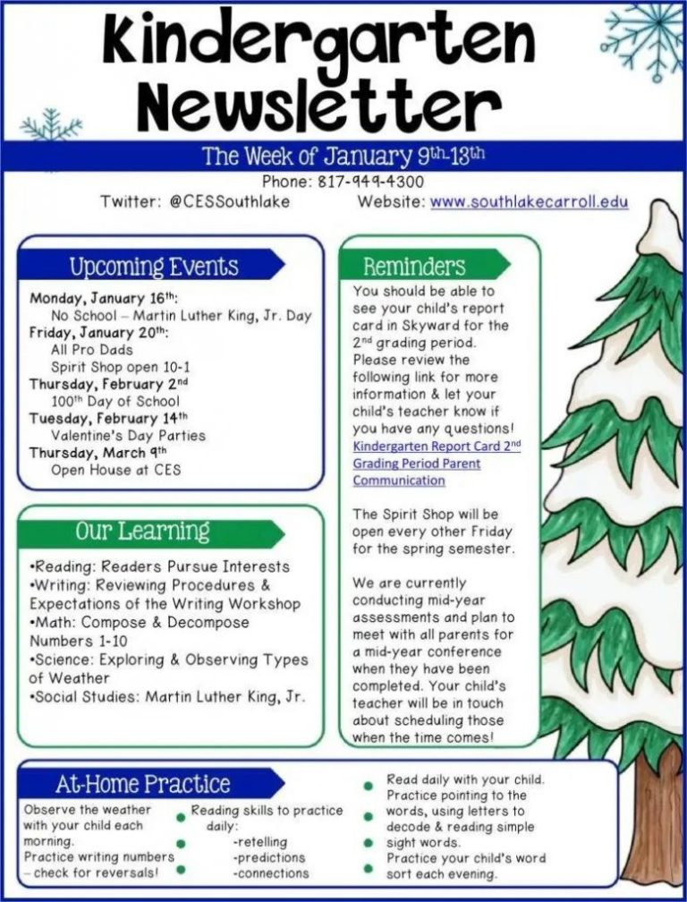 005 stunning free newsletter template for teacher example