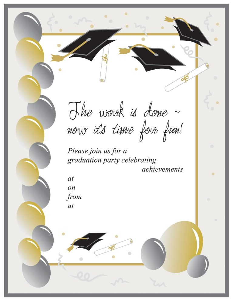 008 formidable free printable graduation invitation template