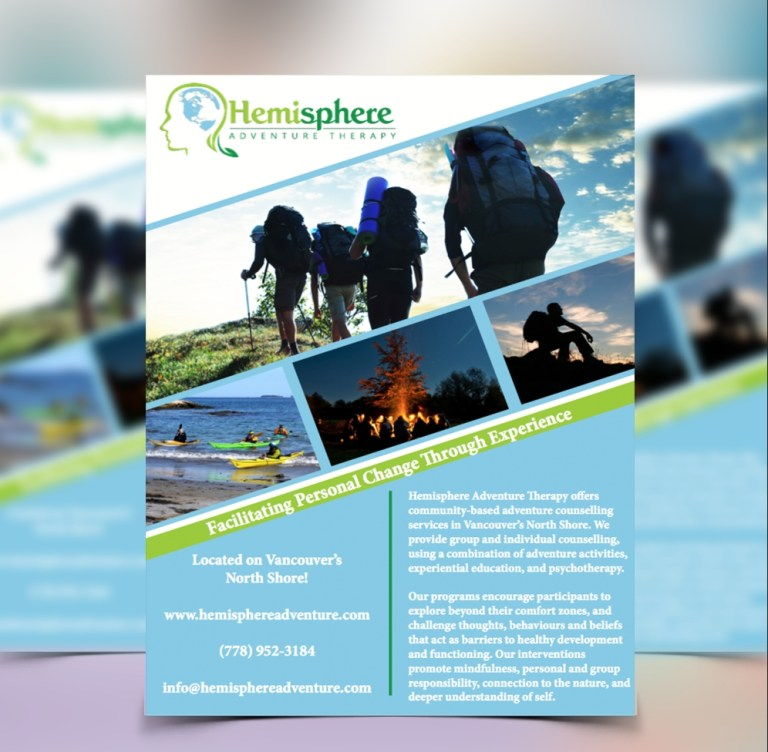 adventure brochure design