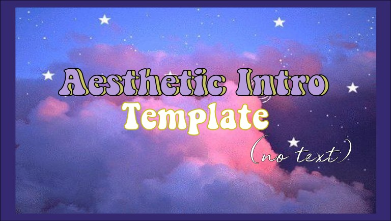 aesthetic intro template no text free download 3