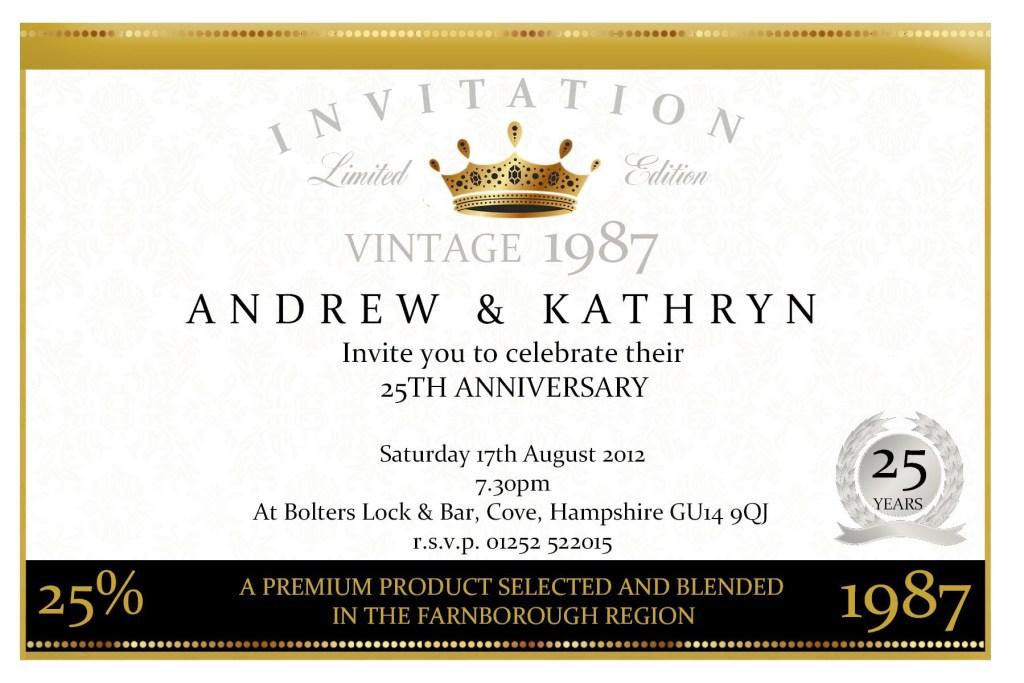 anniversary invitation sample invitation templates