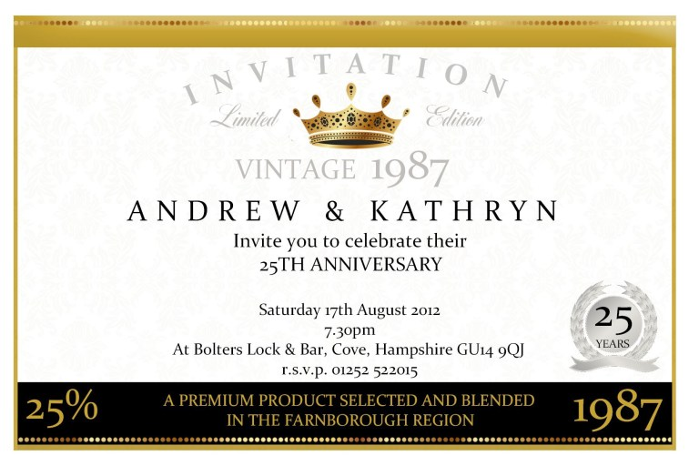 anniversary invitation sample invitation templates