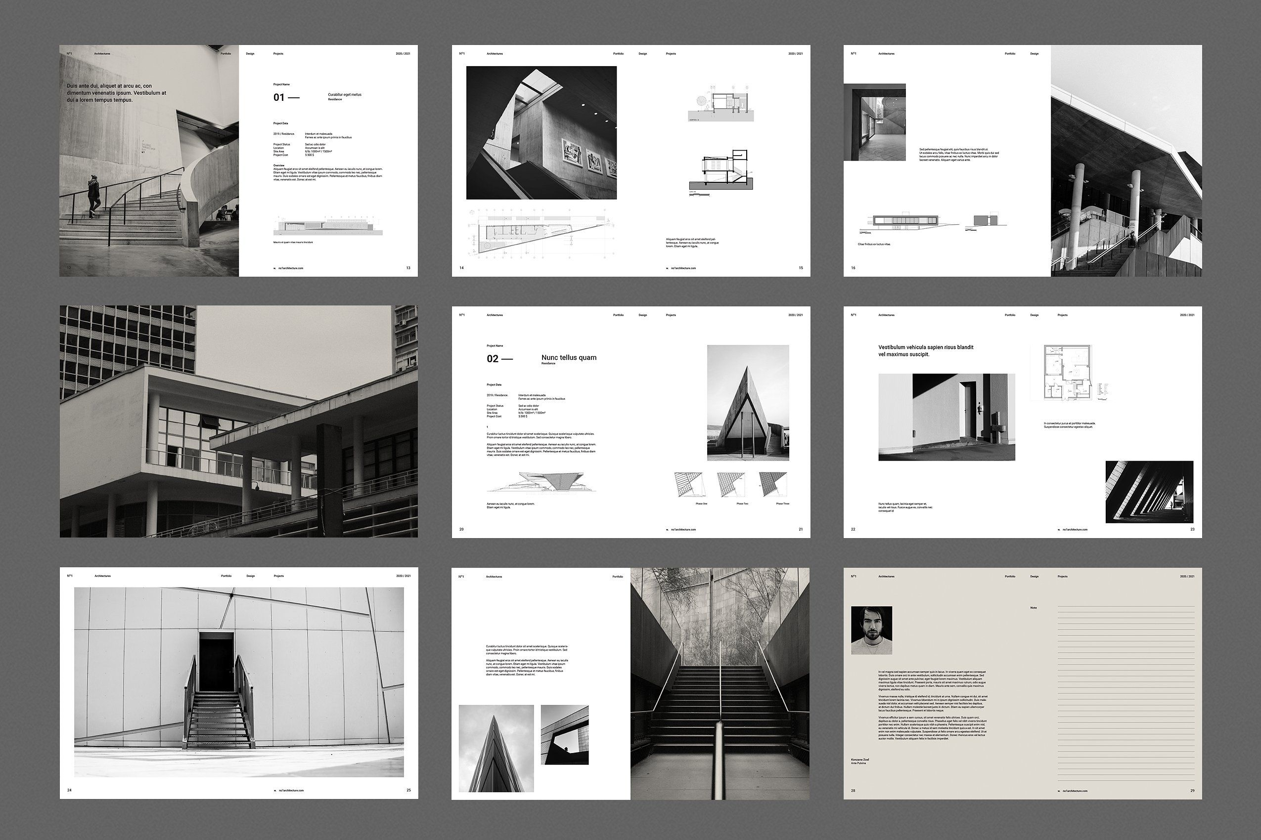 Architecture Portfolio Template For The Awesome Collections Free ...
