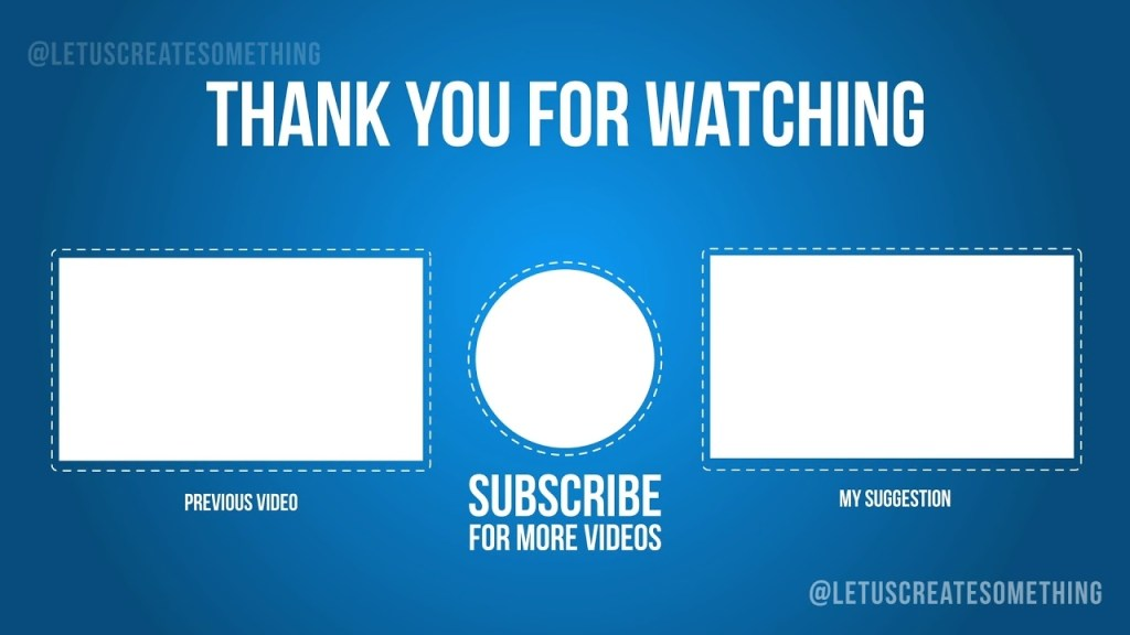 best youtube outroend screens template 2