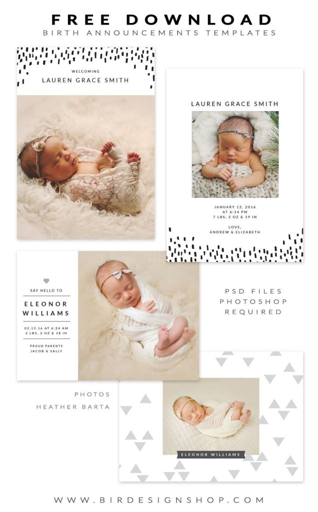 birth announcements templates