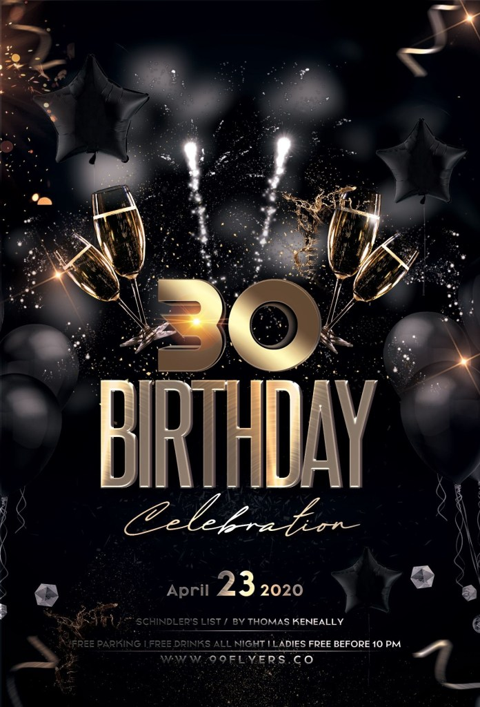 birthday bash gold black free psd flyer birthday flyer