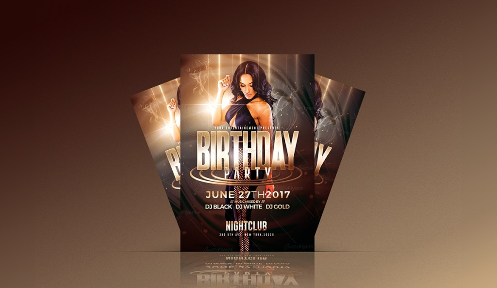 birthday party psd flyer template on student show