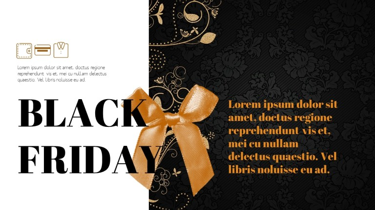 black friday modern ppt templates