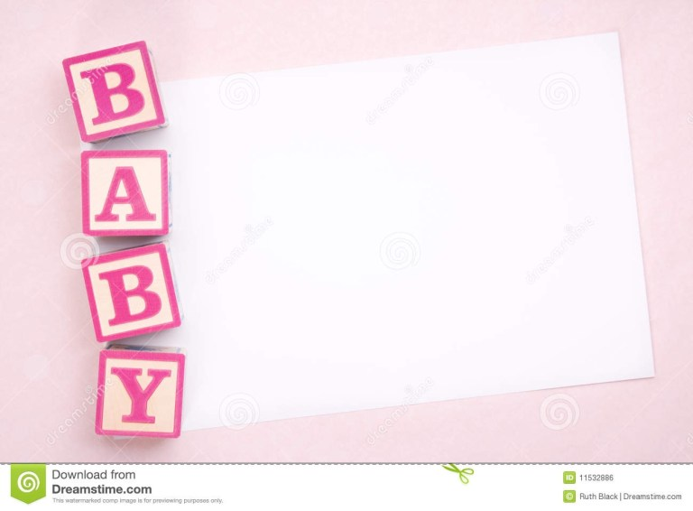 blank baby girl announcement background
