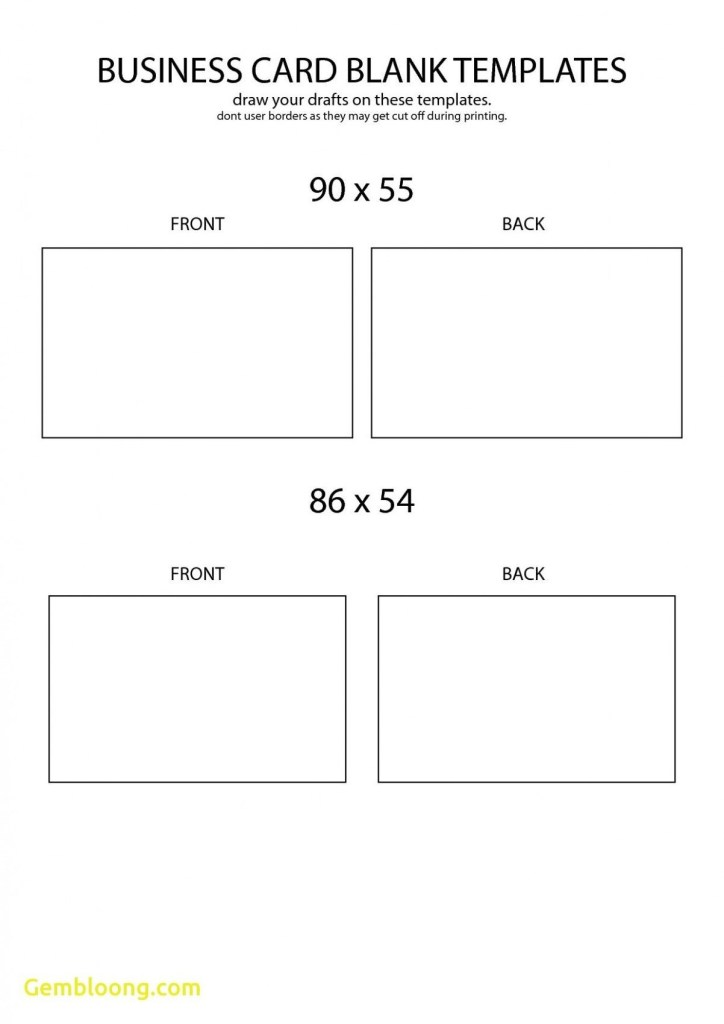 blank business card template with images business card