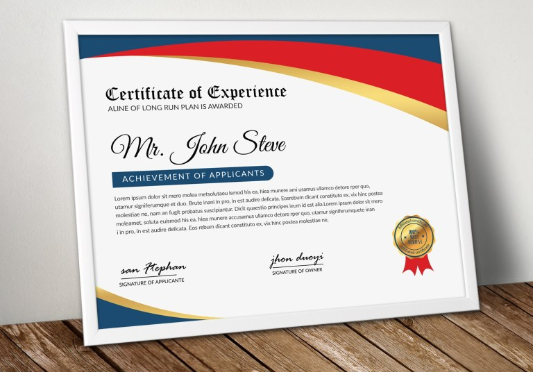 business certificate word template vsual