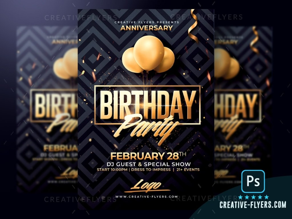 classy birthday psd flyer template creative flyers