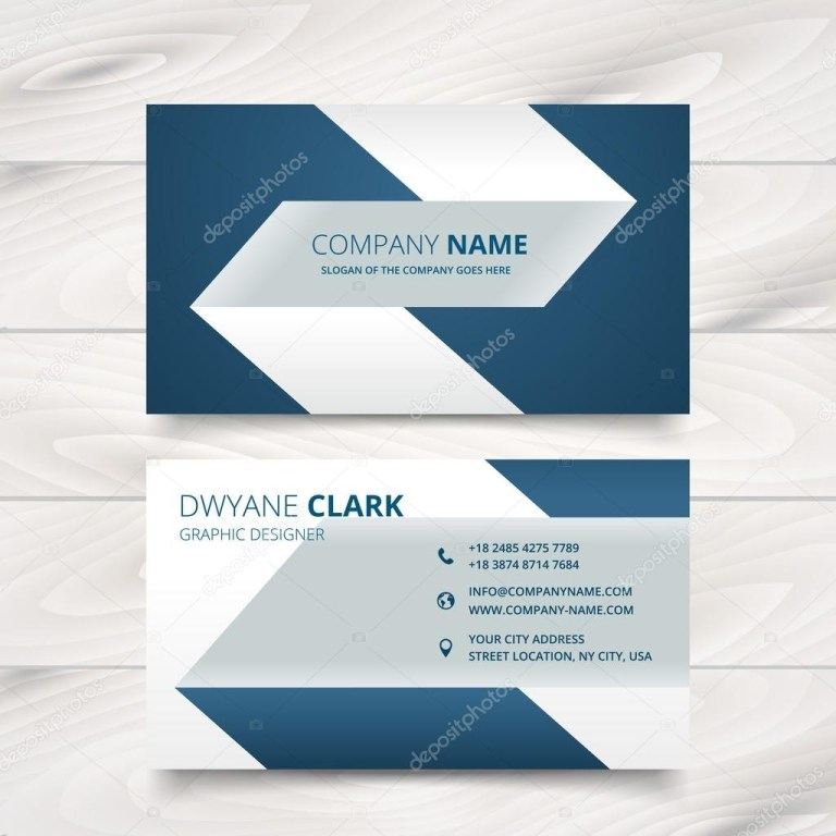 creative simple business card vector design