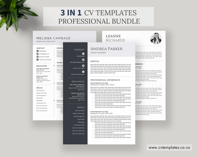 cv bundle cv templates professional curriculum vitae ms word cv template minimalist cv format cover letter creative resume best resume instant