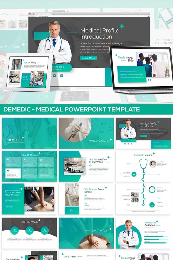 demedic medical powerpoint template