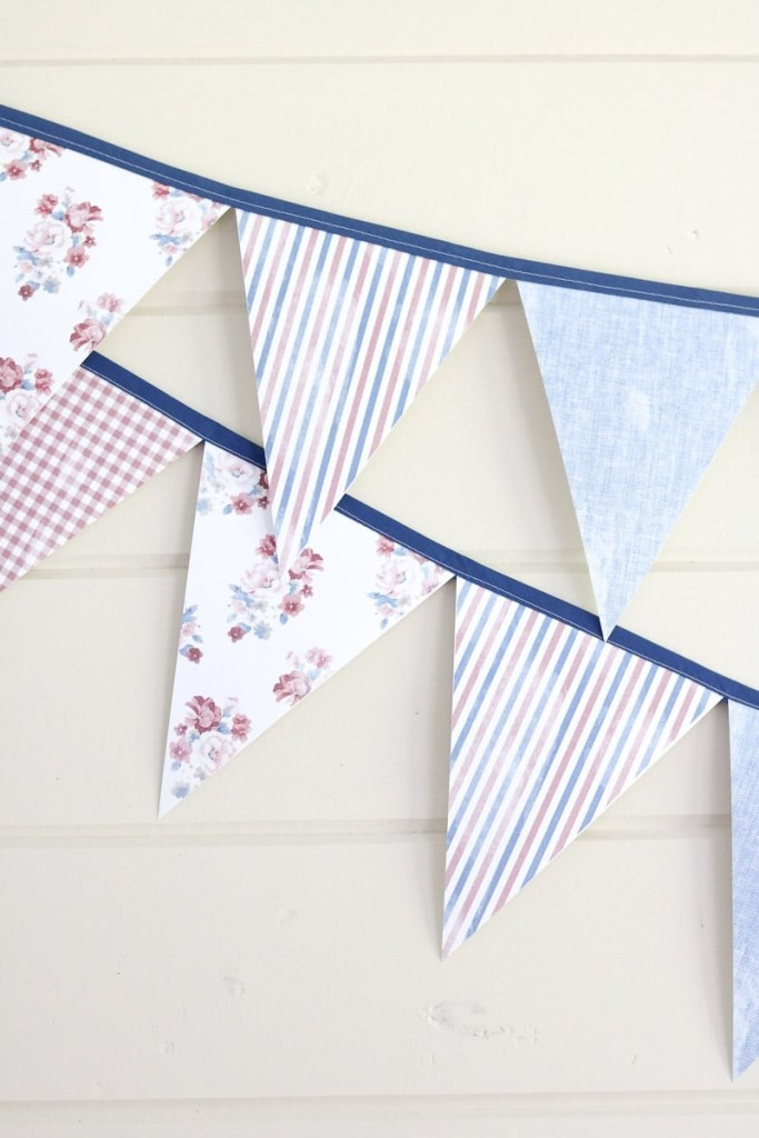 diy on how to make an easy pennant banner template
