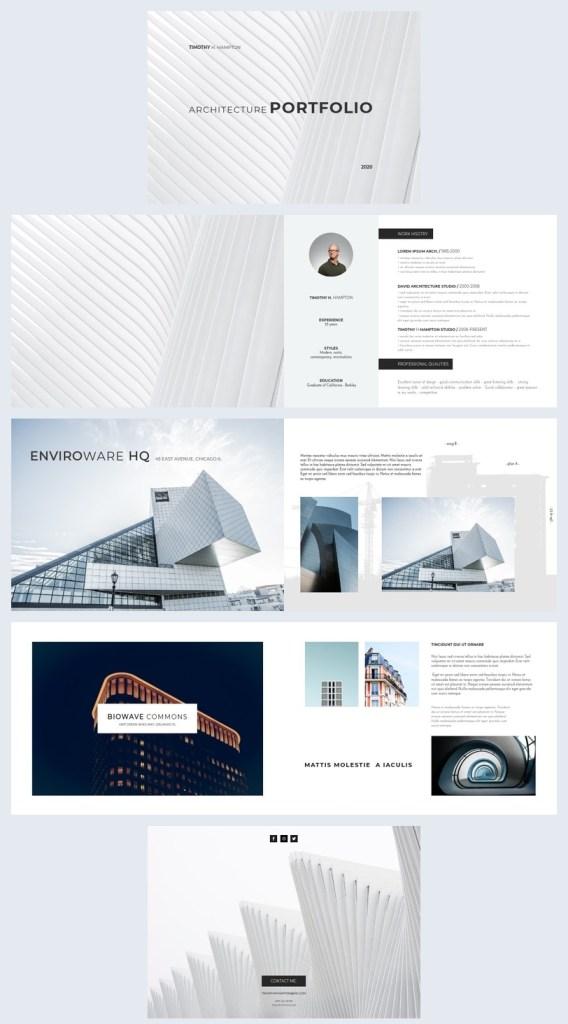 elegant architecture portfolio template