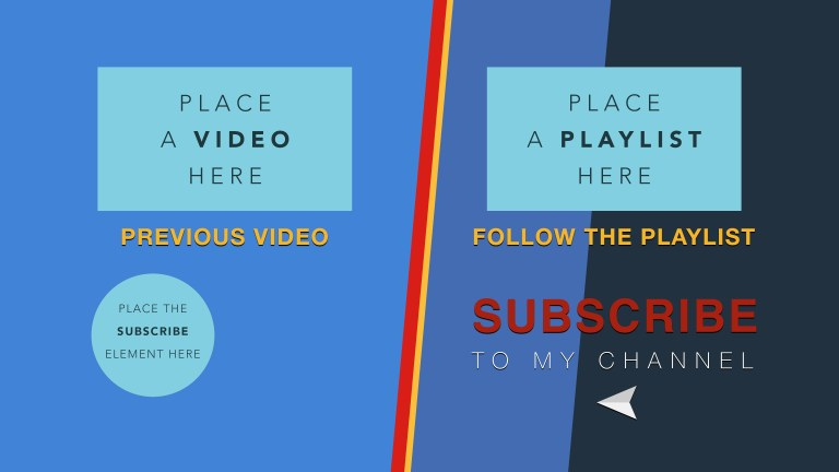 free 4k youtube end screen templates for 2016 and how to