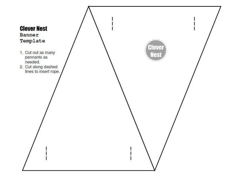 free downloadable bunting template yer welcome with